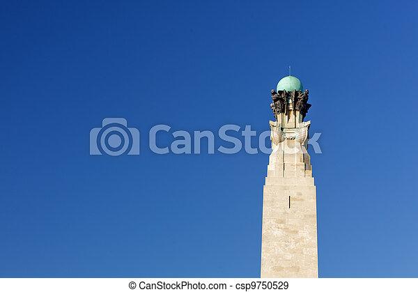 Plymouth hoe, monumento de guerra - csp9750529