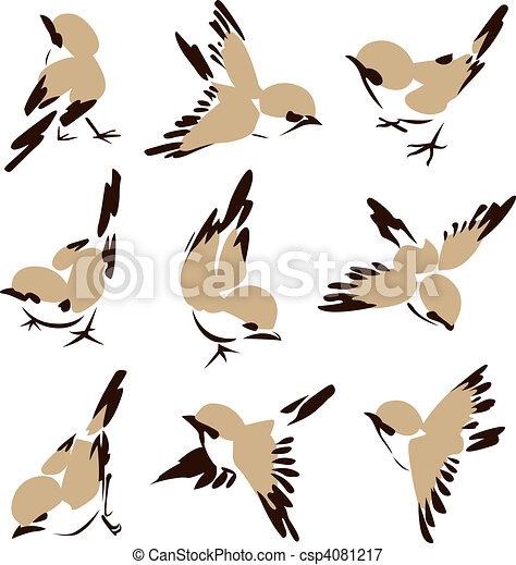 Pequeña ilustración de pájaro - csp4081217