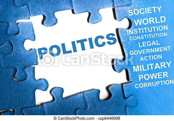 Un rompecabezas político - csp6446998