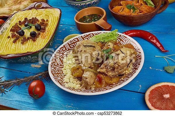 Pollo de albaricoque de Maghreb Moroccan - csp53273862