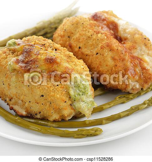 Senos de pollo rellenos - csp11528286