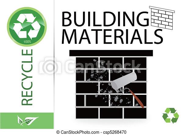 Por favor reciclan materiales de construcción - csp5268470