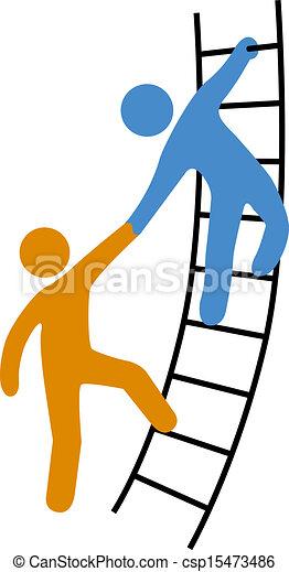La gente ayuda a subir - csp15473486
