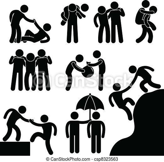 Amigo de negocios ayudándose mutuamente - csp8323563