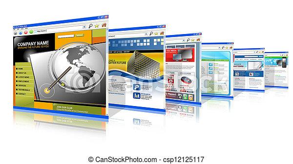 Los sitios web de Internet están de pie - csp12125117