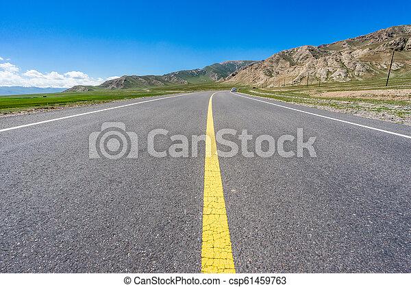 Camino en la pradera - csp61459763