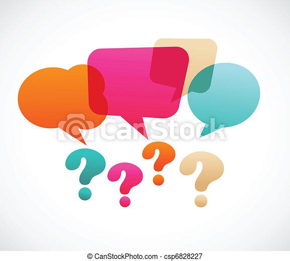 Un signo de interrogación con bucles de habla - csp6828227