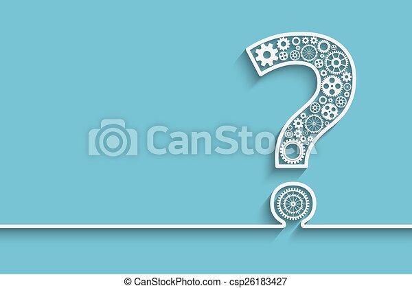 Signo de interrogación de engranajes - csp26183427
