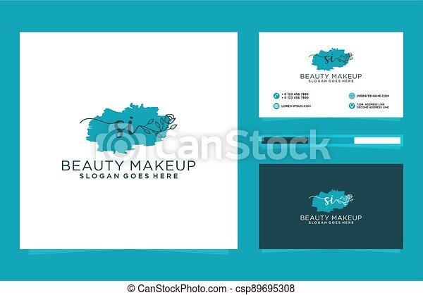 prima, tarjeta, si, femenino, colecciones, inicial, logotipo, plantilla, vector, empresa / negocio - csp89695308