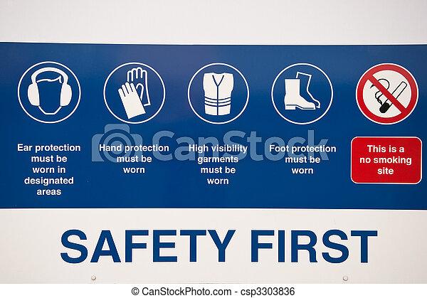 La primera señal de seguridad - csp3303836