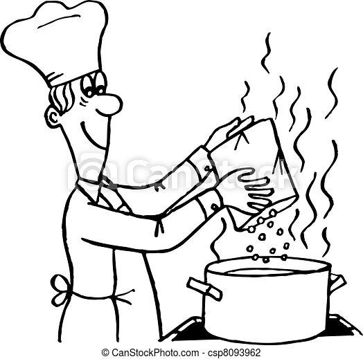 Proceso de cocina - csp8093962