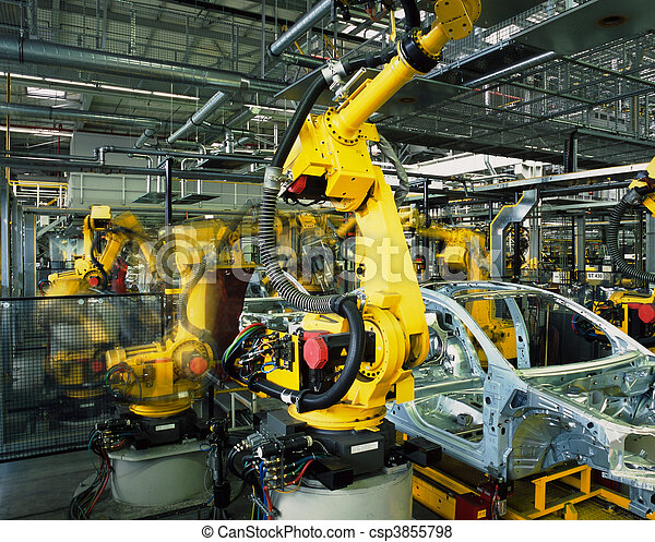 Línea de producción de coches - csp3855798