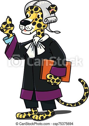 profesiones, alfabeto, j, jaguar, animal, abc, juez - csp75375694