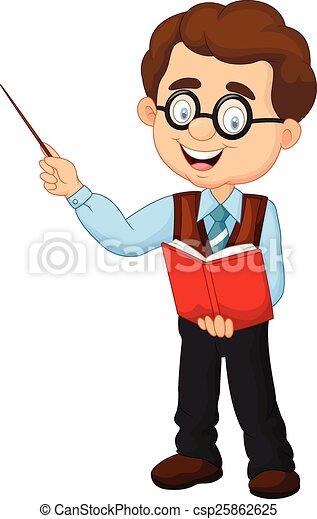 Profesor de dibujos animados - csp25862625