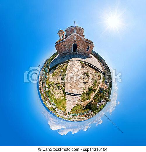 La Iglesia de las lucros elias en protaras - csp14316104