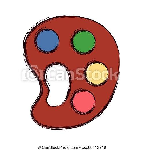 Provisión artística de color paleta - csp68412719