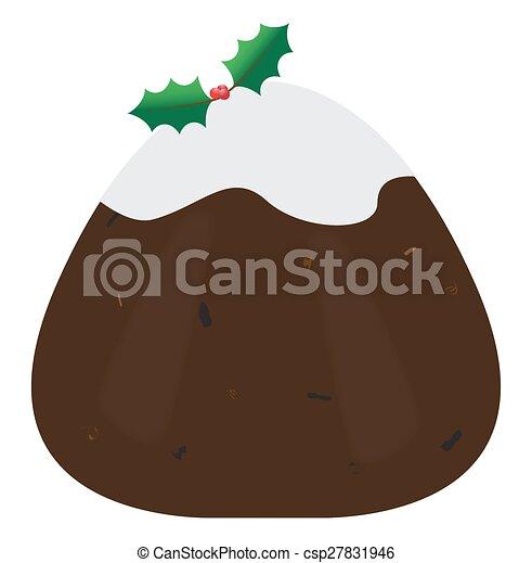 Budín de Navidad - csp27831946