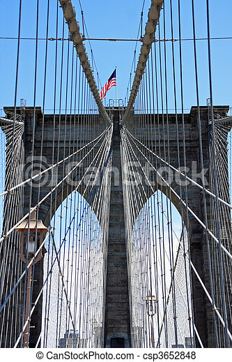 Puente de Brooklyn - csp3652848