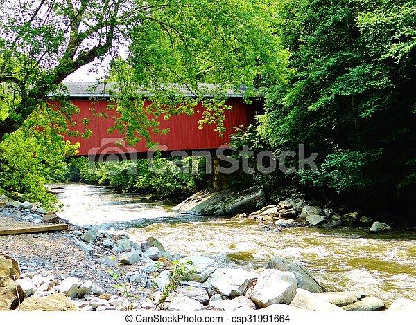 Puente cubierto - csp31991664