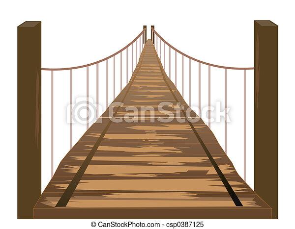 Puente de madera - csp0387125