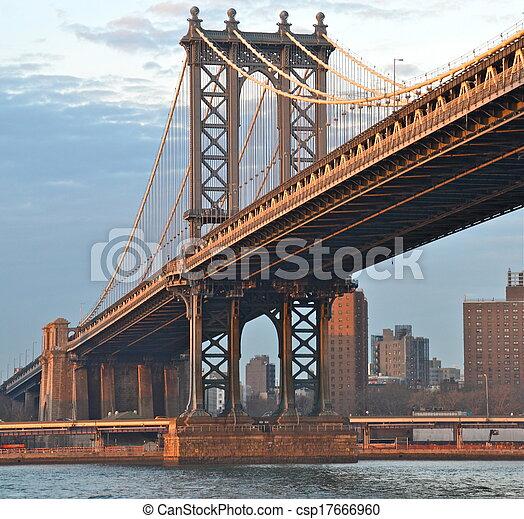 Puente Manhattan, Nueva York, Estados Unidos - csp17666960