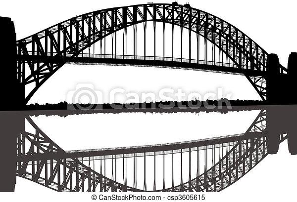 El puente del puerto de Sydney - csp3605615