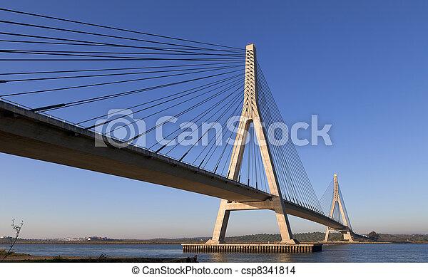 Puente sobre el río guadiana en ayamonte - csp8341814