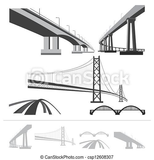 Un conjunto de puentes - csp12608307