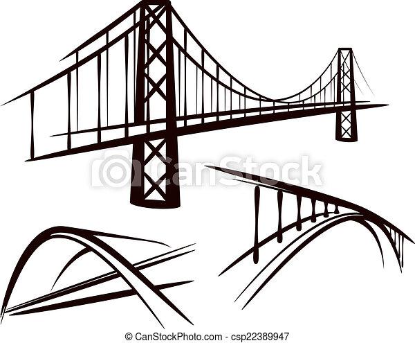 Un juego de puentes - csp22389947