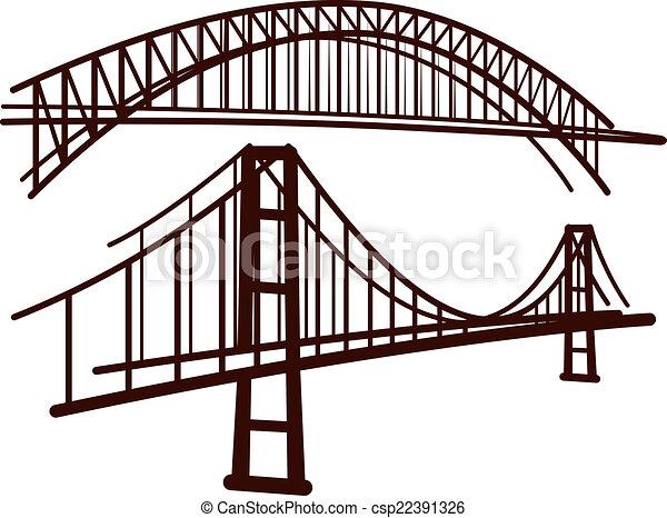 Un juego de puentes - csp22391326