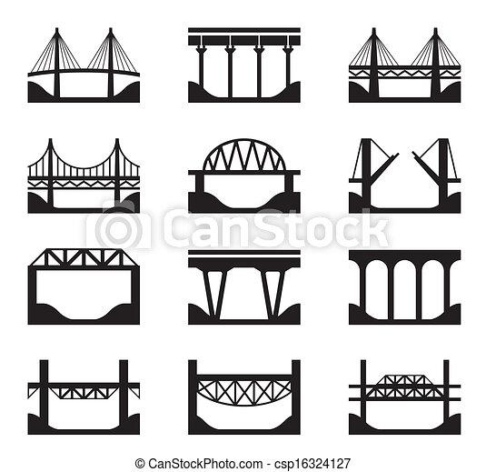Varios tipos de puentes - csp16324127