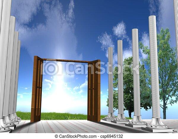Abre la puerta - csp6945132