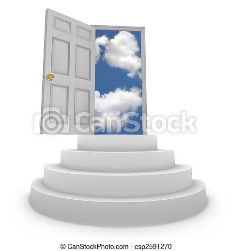 Abrir puertas a nuevas oportunidades - csp2591270