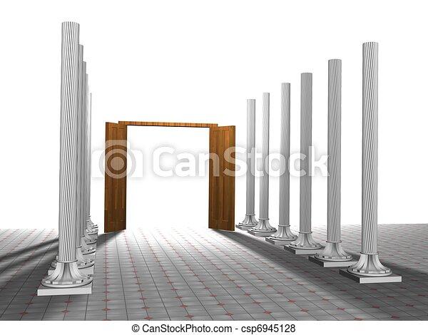 Abre la puerta - csp6945128