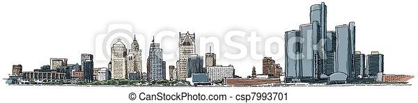 Agua de Detroit - csp7993701