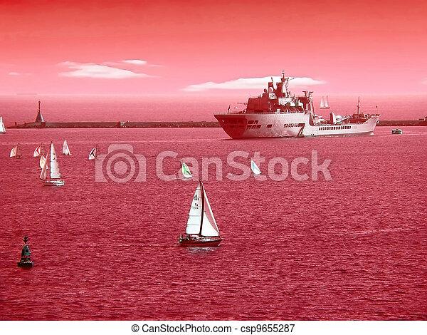 Puerto en Plymouth. - csp9655287