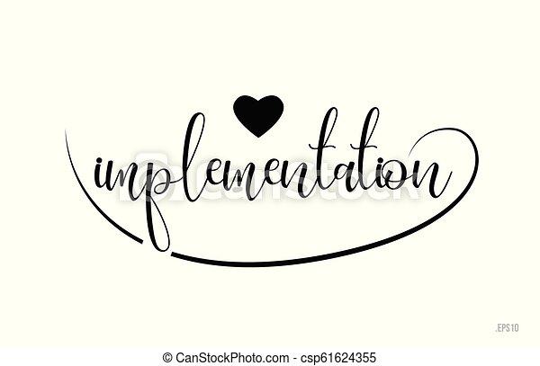 Implementación de texto de tipografía con corazón de amor - csp61624355