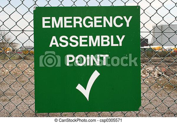 Señal de ensamblaje de emergencia - csp0305571