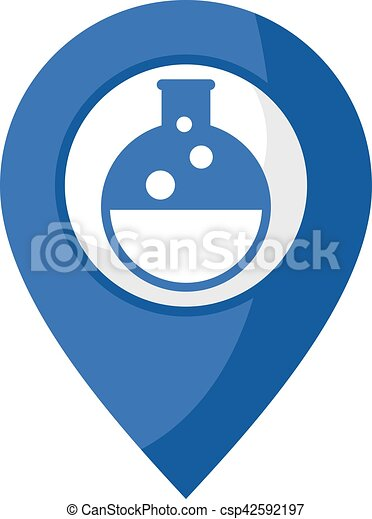 Icono de ubicación química - csp42592197