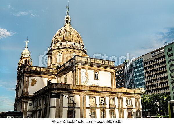 río, de, iglesia, janeiro, brasil, candelaria - csp83989588