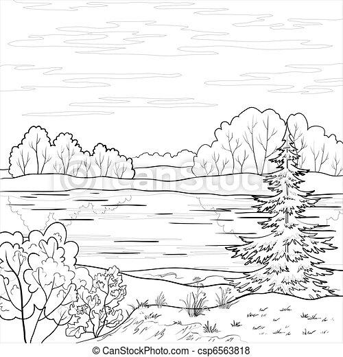 Landscape. Río Bosque, perfil - csp6563818