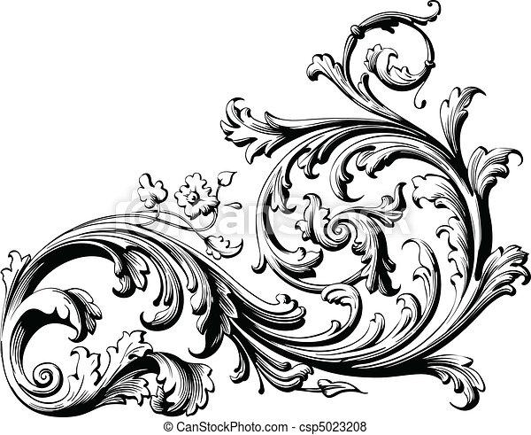 Pergamino floral - csp5023208