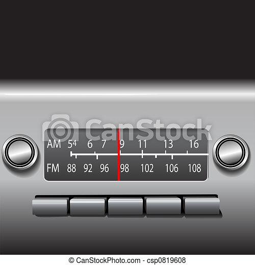AM FM radio de cartón - csp0819608