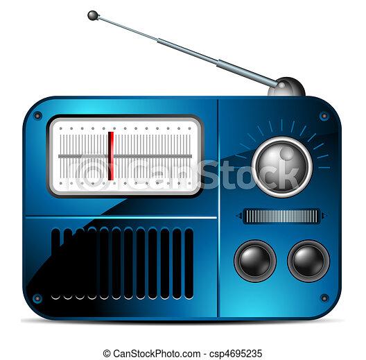 Viejo icono de radio FM - csp4695235
