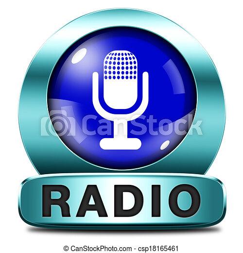 icono de radio - csp18165461