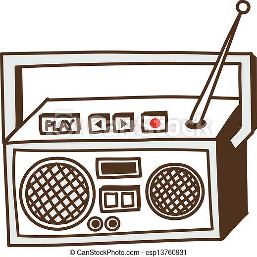 Una radio - csp13760931