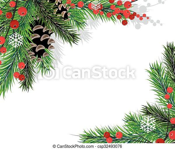 Ramas de árbol de Navidad - csp32493076