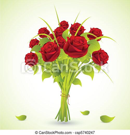 Bouquet de rosas - csp5740247