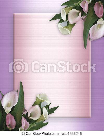 Lirios lirios rosados de satén - csp1556246