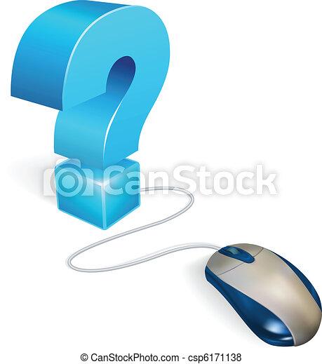 Ratón de computadora y concepto de interrogación - csp6171138